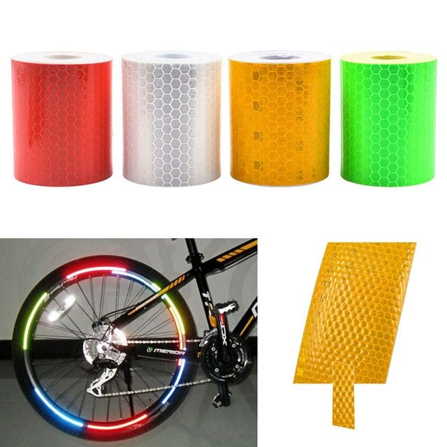 Motorcycle Reflector Strips Tape Stickers Cycling MTB Bike Reflective Film New