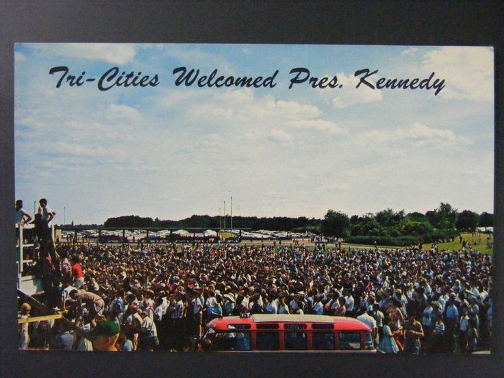 Tri-Cities Muscle Shoals Alabama JFK John F Kennedy Vintage Color Postcard 1960s