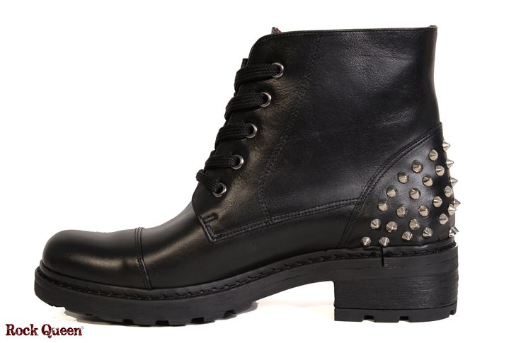 www.rockqueen.shoes https://www.facebook.com/rqshoes #RQ_009  #Rock_Queen #rock #queen #star #shoes #handmade #handcraft #greece #biker #boots #leather #quality #black #woman #fashion #collection #casual #red_blood_lining #biker_sole #metal #spikes