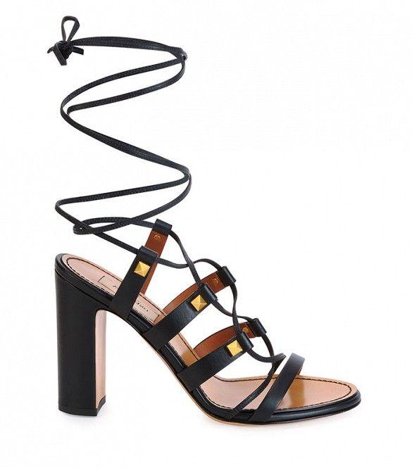 Valentino Rockstud High-Heel Gladiator Sandals ($916)