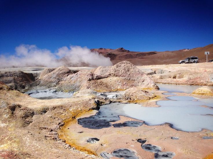Sol de Mañana, meaning Morning Sun in Spanish, is a geothermal field in Sur Lípez Province in the Potosi Department of south-western Bolivia. It extends over 10 km², between 4800m and 5000m height.