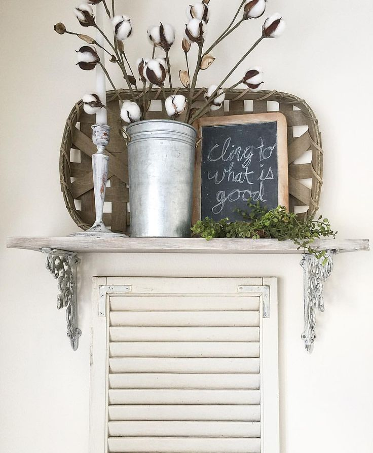 """Shelf styling (@the.huber.homestead) on Instagram: """"props to @hobbylobby once again for having affordable decor items that I love! tobacco baskets for…"""""""