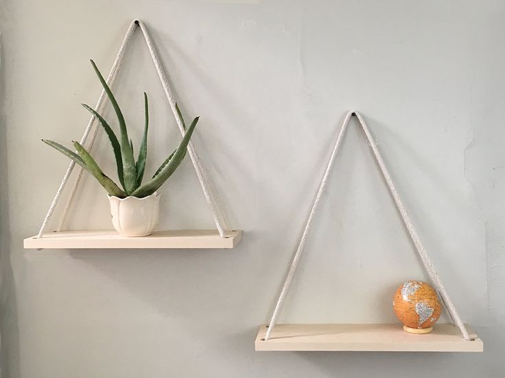 These hanging shelves are the ultimate in tasteful for Ultimate minimalist house