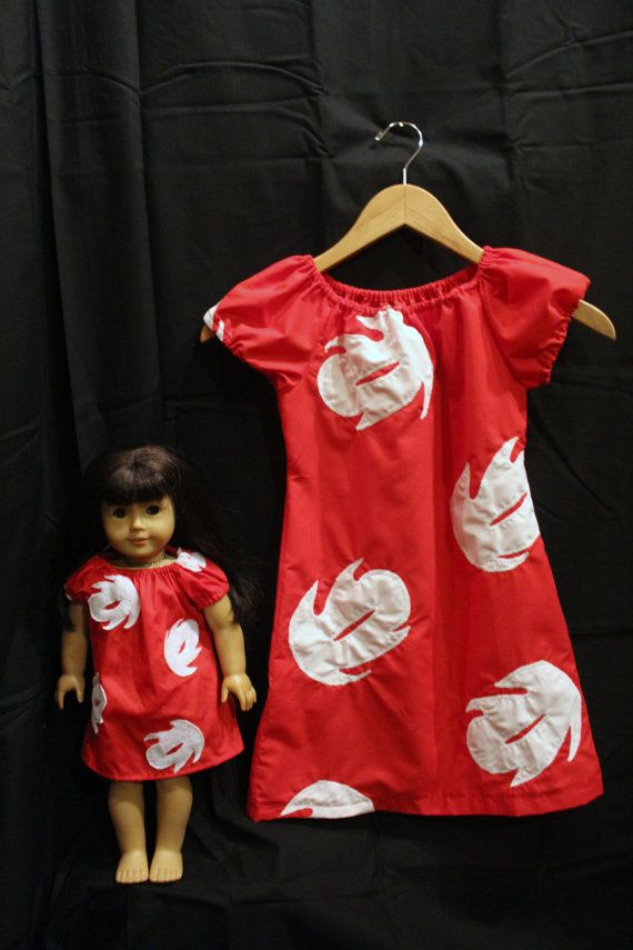 Lilo and Stitch- Peasant Style Lilo Dress set for Girls and Dolls
