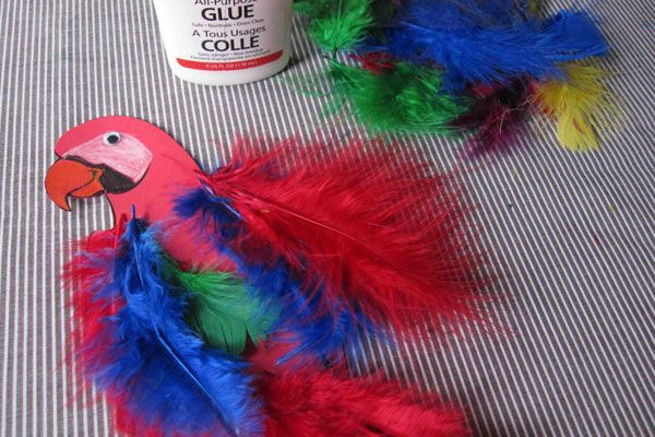 Our Favorite Pirate Crafts for Kids: Pirate Parrot