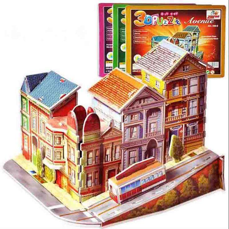new 3D Threedimensional puzzle toys for children DIY Hut