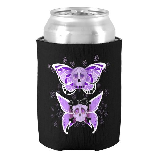 #SugarSkulls #CanCooler   Keep your cans cool this #summer .  Great gift idea. Artwork by Toni Lee from http://www.tearingcookie.com/ Design work by Mannzie