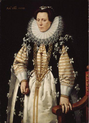 Late Elizabethan Period-The wife of Nicolas de Hillincx, by Frans Pourbus the Younger, circa 1592.