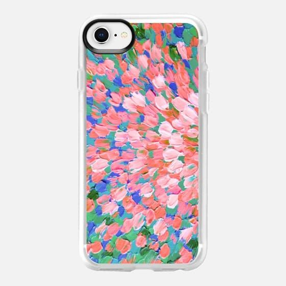 SPRING SPLASH, BLUSH PINK GREEN By Artist Julia Di Sano, Ebi Emporium on Casetify, #Casetify #CasetifyArtist #iPhoneCase #iPhone6 #iPhone6s #iPhone7 #iPhone7plus #iPhone8 #iPhone8Plus #iPhoneX #Samsung #tech #peach #pink #blush #green #rainbow #girly #splash #ombre #ocean #waves #summer #colorful #musthave #pretty