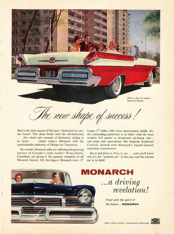 Vintage ad for 1957 Mercury Monarch