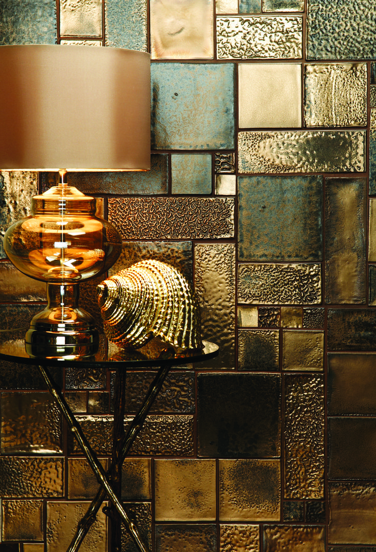Foundry Metallics Roman Gold by The Winchester Tile Company