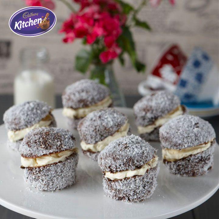 Be the hostess with the mostess during #Christmas in July celebrations this weekend with these Double #Choc #Lamingtons. A true Aussie #dessert.  To view the #CADBURY product featured in this recipe visit: https://www.cadburykitchen.com.au/products/view/bournville-cocoa/