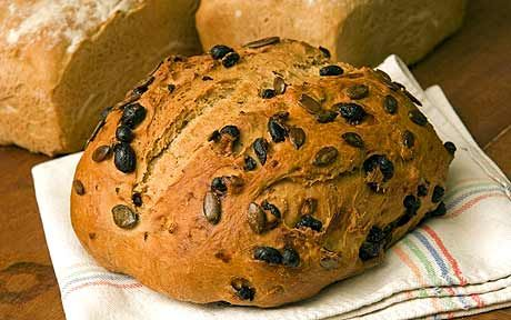 You can make this fruity, early autumn loaf with a soft wheat for a flatter   bread, or use strong flour for something more shapely.