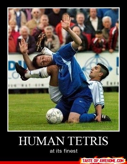 one of few interesting moments in soccer. But lots more action in rugby