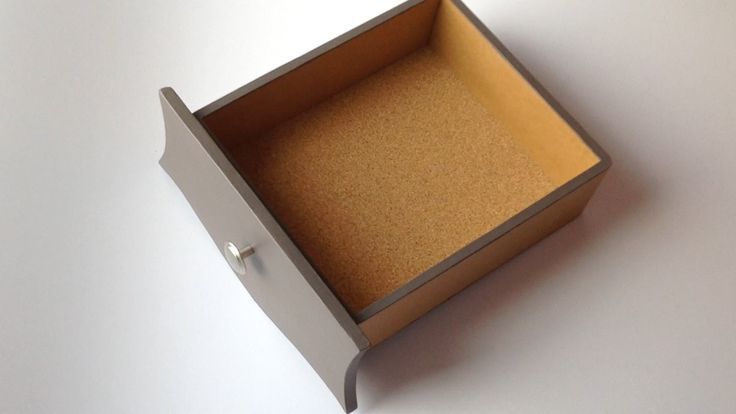 DIY - how to make a cardboard drawer (2) (cardboard furniture)