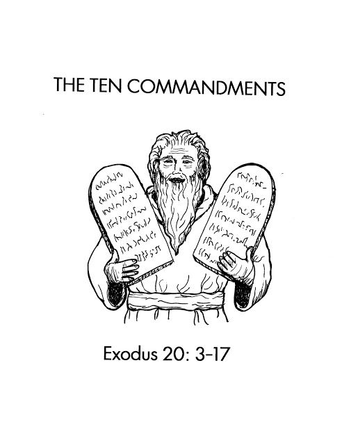 38 best 10 commandments images on pinterest sunday for 10 commandment coloring pages