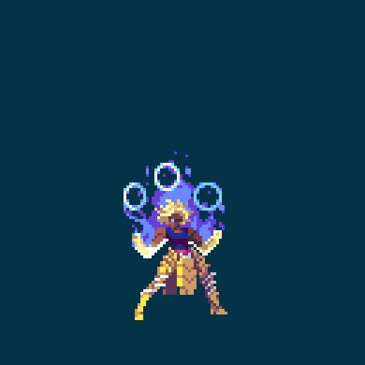 Duelyst minion: Scintilla #animation #pixelart