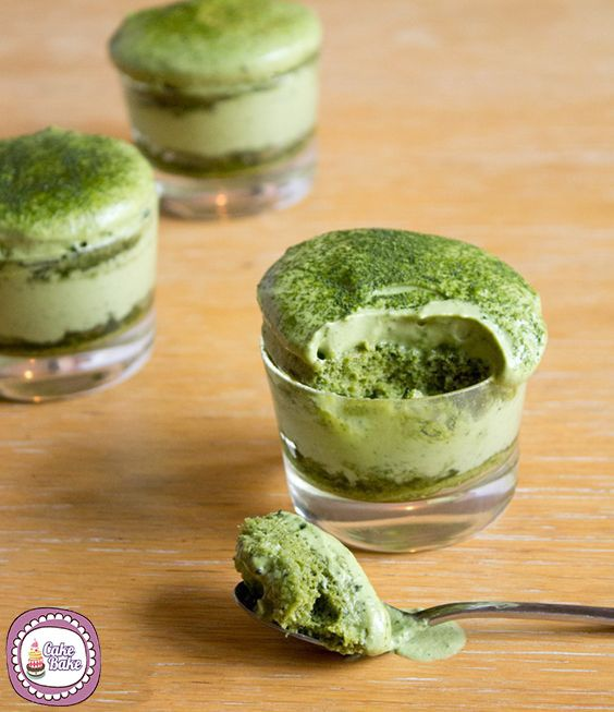 Mousse al Tè macha - icakebake - Green Macha tea mousse