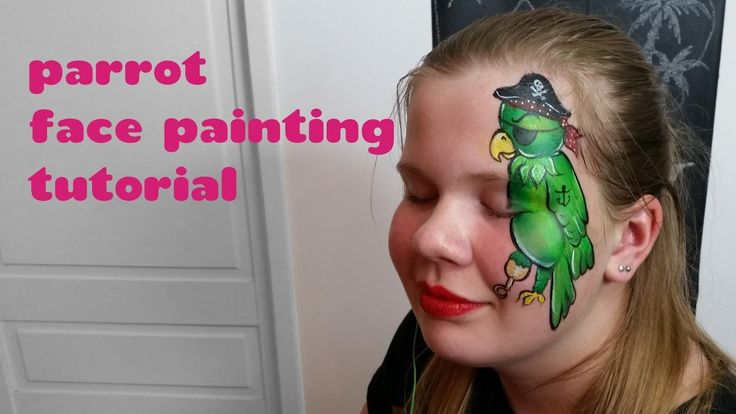 Pirate Parrot Face Painting Tutorial