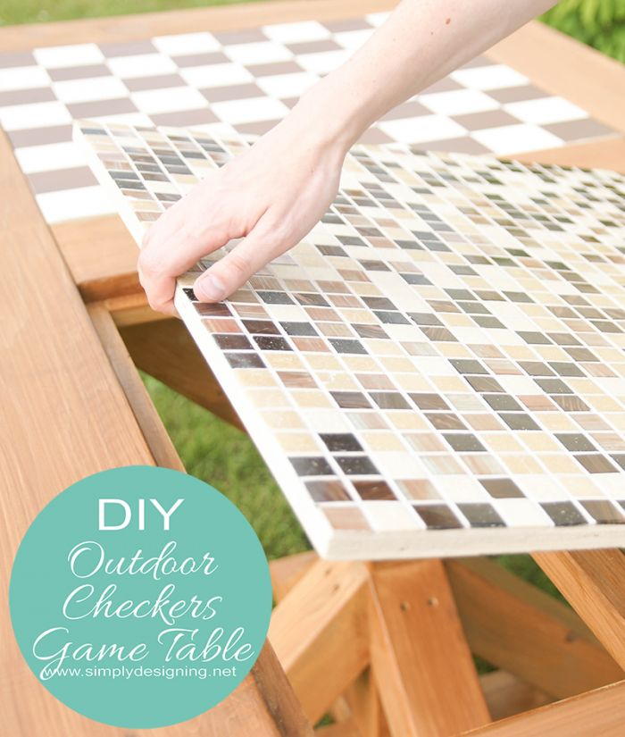 DIY Flip-able Checker Game and Dining Table #diy #tutorial #table