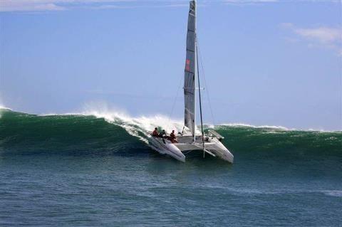 catamaran surfing!