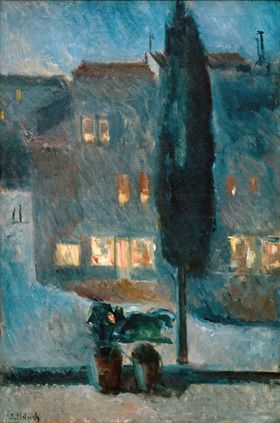 Edvard Munch: Die Zypresse