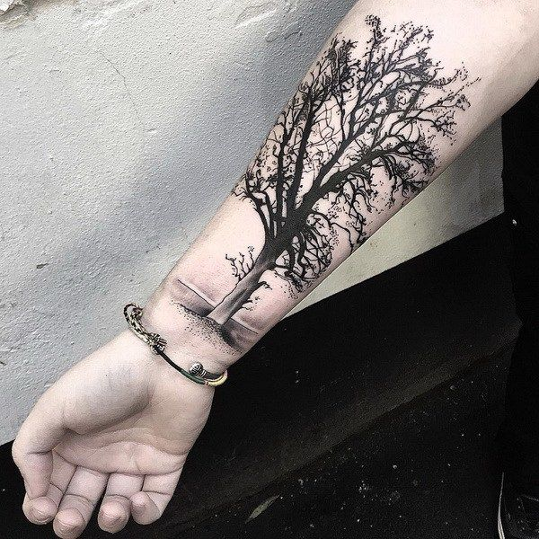 Tree Tattoo Design on Forearm.What a cool tattoo design idea!  Love it very much! This will be my next tattoo design. via http://forcreativejuice.com/awesome-forearm-tattoo-designs/