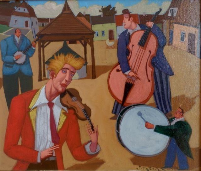 ArtGalery ° PERSONALART.PL tytuł/title:  Koncert kuglarzy/Concert of jugglers autor: Jacek Pałucha personalart.pl/Jacek-Palucha