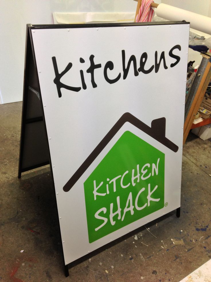 Another version fo the AFrame designed and constructed by Sign A Rama Box Hill for Kitchen Shack. This time in white.