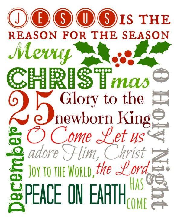 CHRISTmas Subway Art- Free Printable