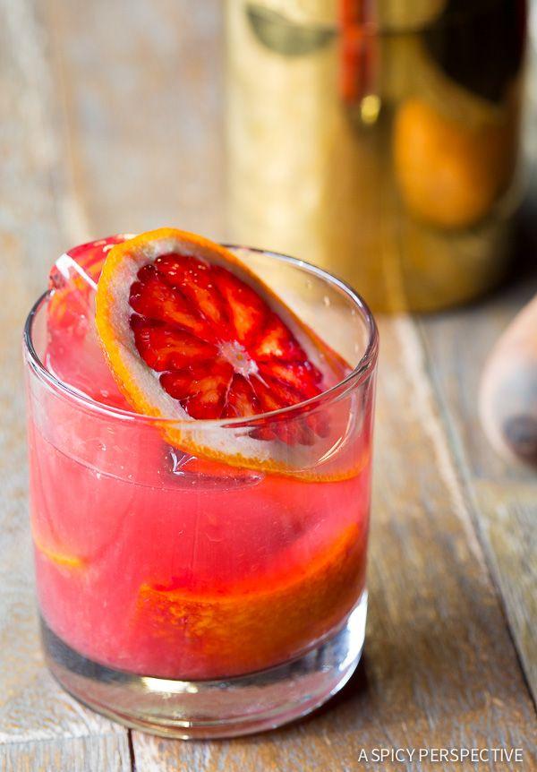 Blood Orange Caipirinha Recipe on ASpicyPerspective.com