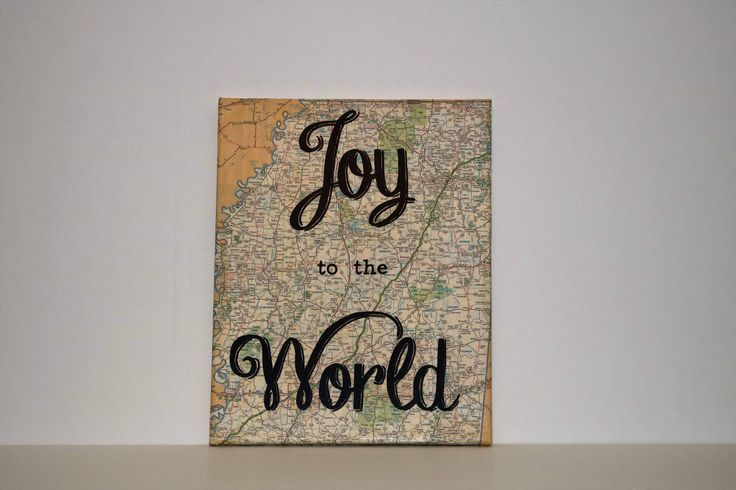 """Map Canvas - """"Joy to the World"""" by ChristysCreations411 on Etsy"""
