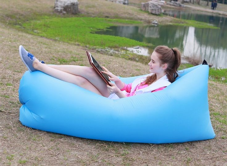 QANGEL Outdoor Camping Sleeping Bag Beach Portable Lounge Chair Lounger Inflatable Fast filling Air Sleep Sofa Couch for Summer * Tried it! Love it! Click the image. : Air Lounges