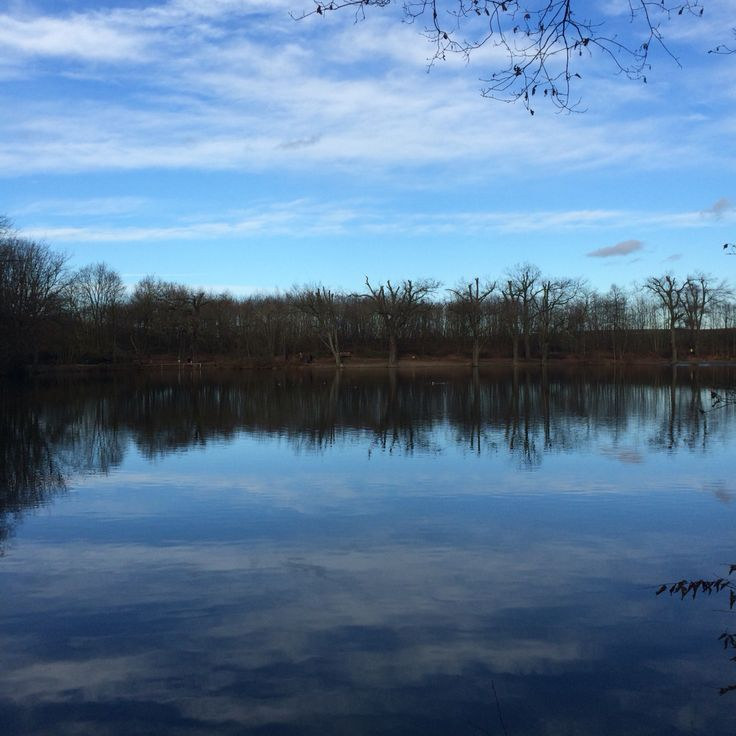 Das Wasser spiegelt den Himmel,wie Traum und Wirklichkeit