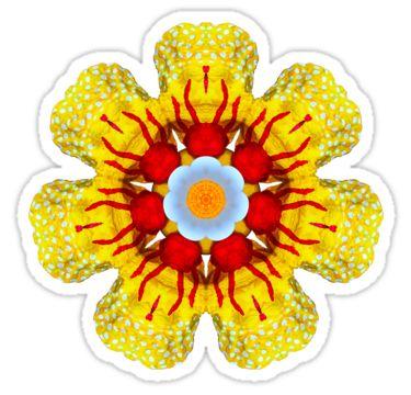 Flower on the Half Shell Sticker by StickerNuts
