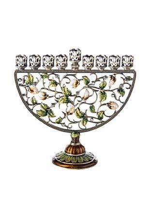 Legacy Judaica Floral Jeweled Menorah