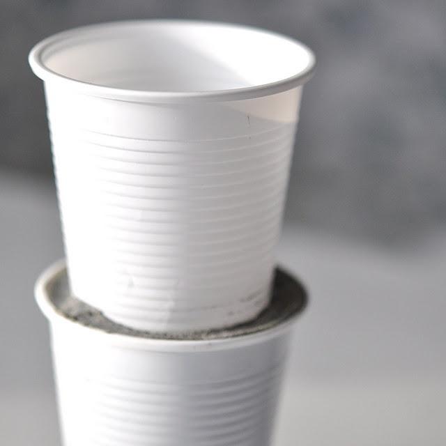 DIY concrete tea light holders