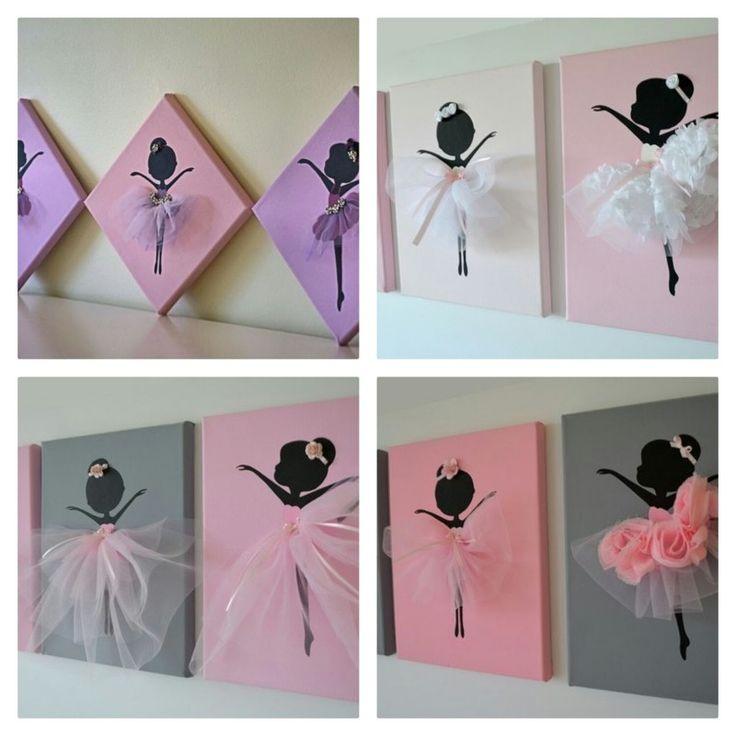 wandbilder f r ein m dchenzimmer balerinabilder m dchenzimmer rosa grau t ll selber. Black Bedroom Furniture Sets. Home Design Ideas