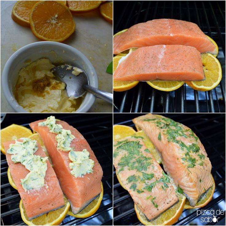 Salmón a la naranja www.pizcadesabor.com