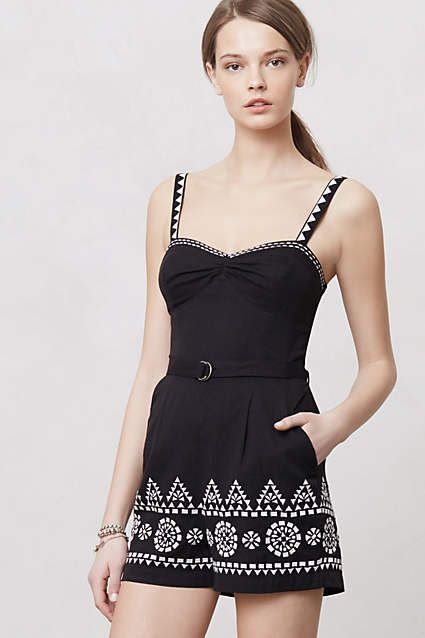 Embroidered Tofino Romper - anthropologie.com