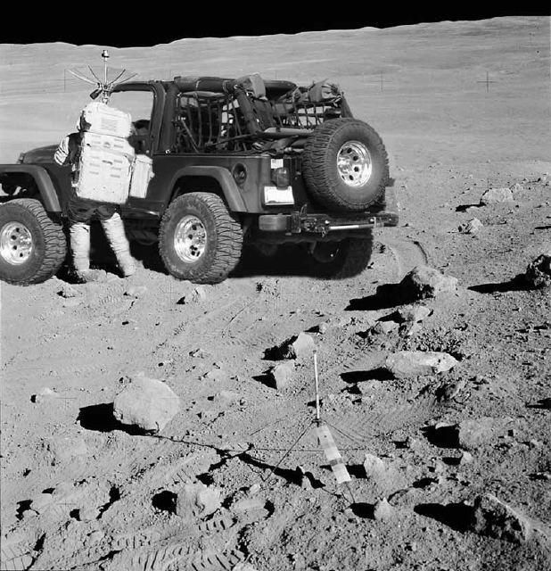 Jeep on the moon