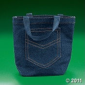 Denim handbag--not all of them are my style! But I'd carry this one.