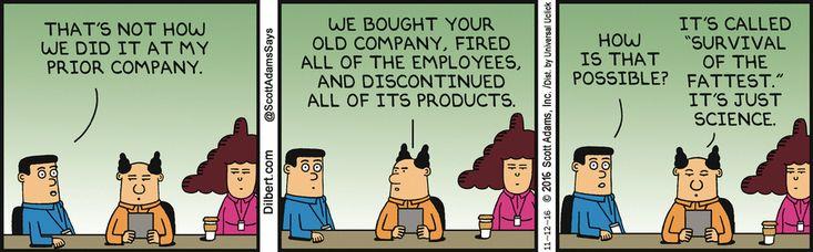 Bought His Last Company - Dilbert by Scott Adams