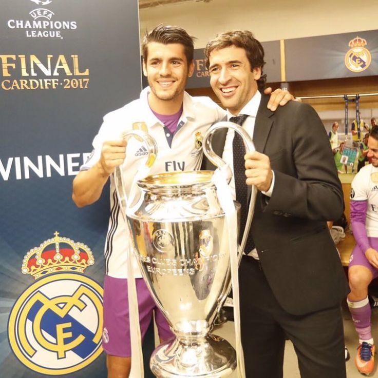 """Álvaro Morata on Instagram: """"Feliz cumpleaños ídolo! Crecí viéndote marcar goles en el Bernabéu y he tenido la suerte de conocerte! Que pases un gran dia! @raulgonzalez…"""""""