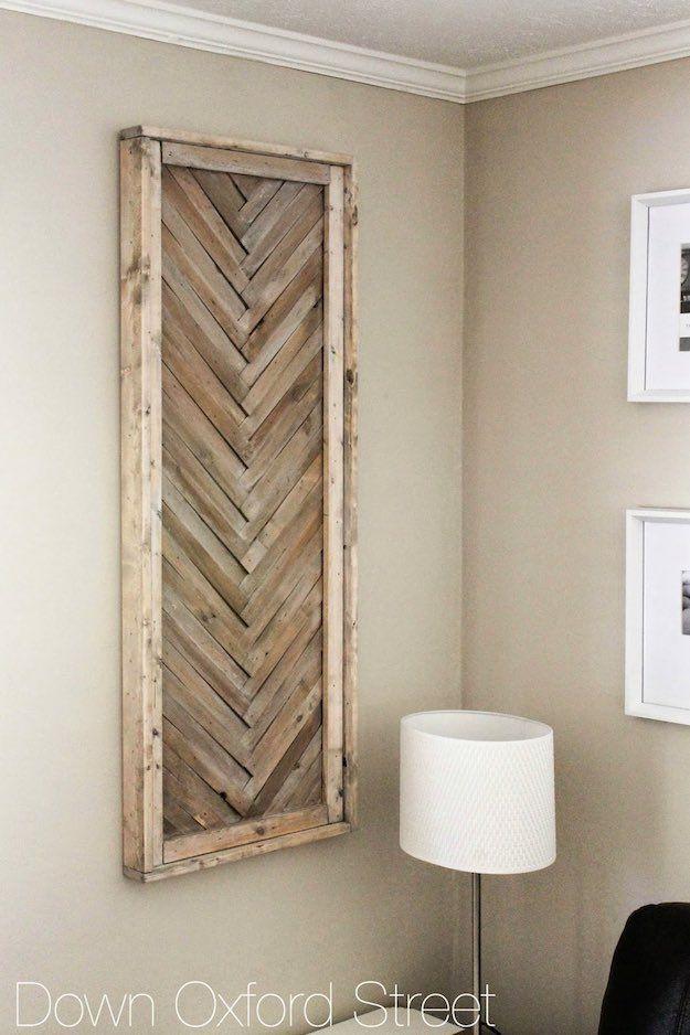 Wood Shim Wall Art | Creative Wood Wall Art Ideas You Can Do On Weekends