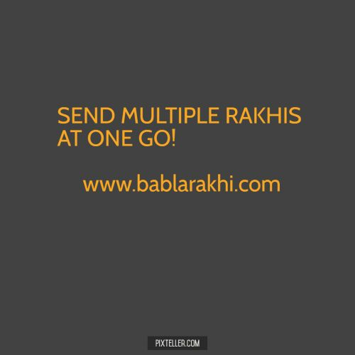 Have More than One Brother? Want to Send Multiple Rakhis at One Go? http://www.bablarakhi.com/blog/send-multiple-rakhis-at-one-go