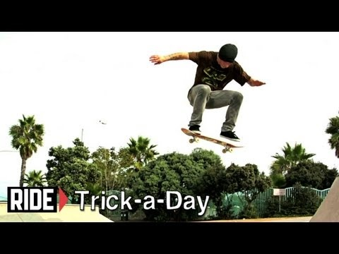 Learn a new trick each and every day from top pros. You'll get step-by-step instructions on how to master every trick in skateboarding! Tune in seven days a week to learn something new.    Today Tommy Sandoval shows you how to Fakie Kickflip