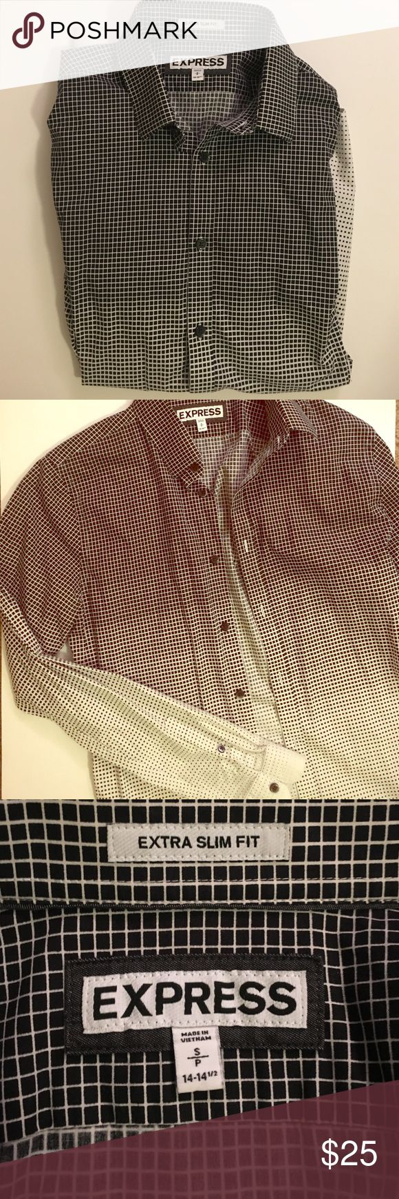 NWOT Express Men's Extra Slim Fit Button Down Brand new condition without tags! A staple top for the office or wear with jeans for a night out. Slimming fit, ombre style colors. open to offers ♥️ Express Shirts Dress Shirts