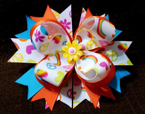 Stacked Boutique Hair Bow - Loopy Hair Bow