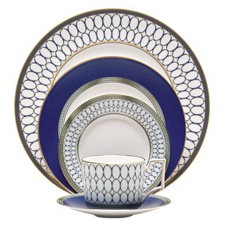 Renaissance Gold Fine Bone China 5 Piece Place Setting By Wedgwood